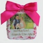 Chocolate Covered Wedding Photo Cookie Favors (2 Sizes)