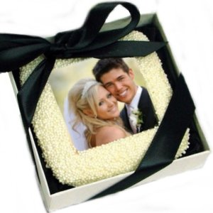 Gift Boxed Wedding Photo Cookie Favor image