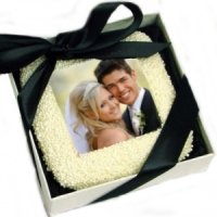Gift Boxed Wedding Photo Cookie Favor