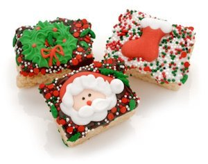 Christmas Chocolate Dipped Mini Rice Krispie Bites image