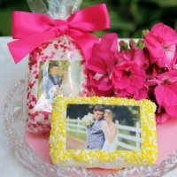 Photo Rice Krispie Bar Wedding Favors