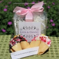 Personalized Wedding Fortune Cookies Take Out Box Favor