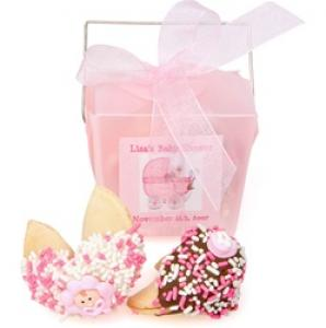 Baby Girl Personalized Take Out Pail of 2 Fortune Cookies image