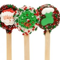 Christmas Oreo Cookie Pop Favors
