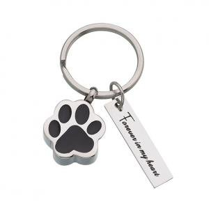Pet Memorial Forever by My Side Jewelry Key Ring image