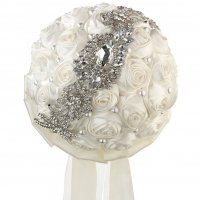 Pearl and Rhinestone Cream Bridal Bouquet