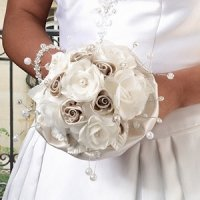 Taupe Rose Bridal Bouquet