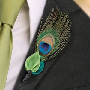 Peacock Flair Boutonniere image
