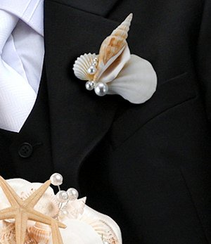 Coastal Sea Shell Boutonniere image