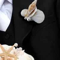 Coastal Sea Shell Boutonniere