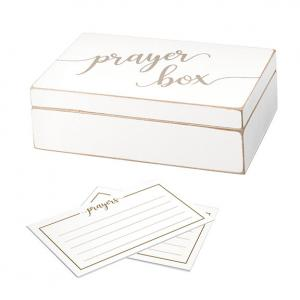 Distressed White Prayer Box with Paper Cards image