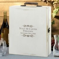 Antique White Wine Box (4 Personalized Options)