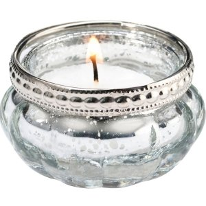 Silver Tealight Cups (Set of 4) image