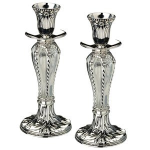 Crown Taper Candle Holder Set image