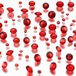 Diamond Confetti - Red