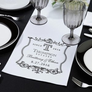 White Canvas Table Runner image