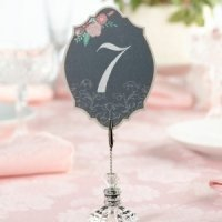 Shabby Chic Black & Pink Table Numbers
