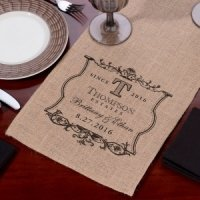 Burlap Wedding Table Runner (5 Personalized Options)