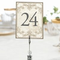 Vintage Scroll Gold Table Numbers