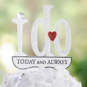 'I Do' Wedding Cake Pick image
