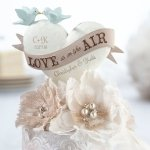 Love Is In The Air Wedding Cake Top