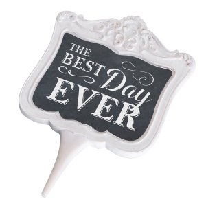 Chalkboard Best Day Ever Cake Topper image