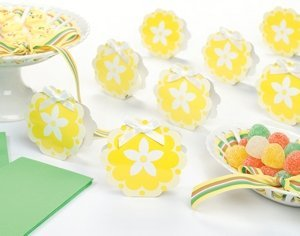 Yellow Flower Favor Boxes (Set of 12) image