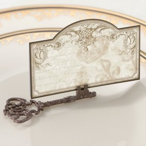 Vintage Key Place Card Holders (Set of 4) image
