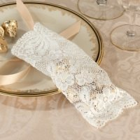 Ivory Lace Favor Bags (Set of 6)