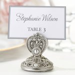Elegant Jeweled Seating Card Holders (Set of 4)