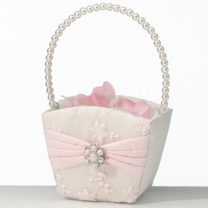Blush Pink Flower Basket image