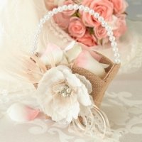Burlap and Lace Flower Girl Basket