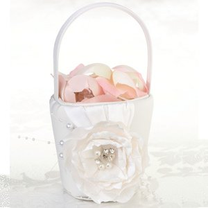 Chic & Shabby Flower Girl Basket image