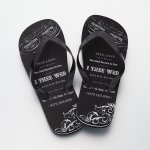 Just Married Honeymoon Groom Flip Flops