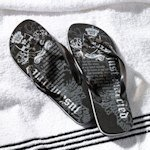 Just Married Flip Flops (Black or White)