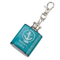 Mini Aqua Bride's Crew Flask
