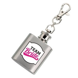 Mini Team Bride Silver Flask image