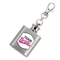 Mini Team Bride Silver Flask