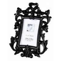 Black Scroll 4 x 6 Photo Frame