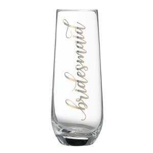 Gold Bridesmaid Stemless Champagne Glass image