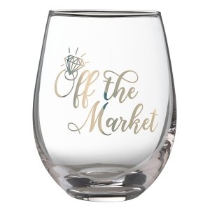 Off the Market Stemless Wine Glass image