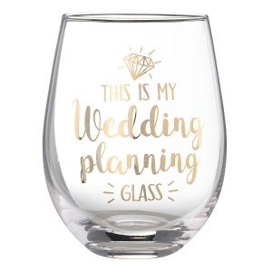 This is My Wedding Planning Glass Stemless Wine Glass image