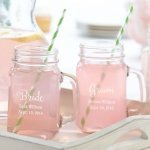 Personalized Wedding Party Mason Jar Mugs