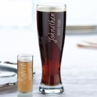 Wedding Party Pilsner Glass (2 Personalized Designs)