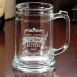 Set of 2 Beer Mugs (2 Personalized Design Options)