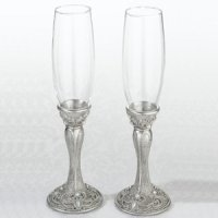 Regal Elegance Toasting Glasses (Set of 2)