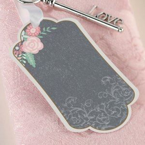 Shabby Chic Black and Pink Favor Tags (Set of 24) image