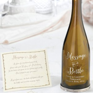Custom Engraved Message in a Bottle Guest Book image
