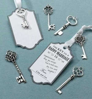Silver Key Tags Wish Cards (Set of 24) image