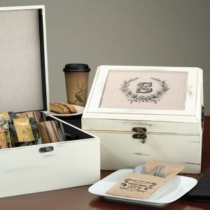Antique White Wish Card Box image